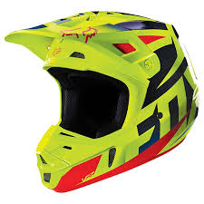 Fox V2 Race Blue/yellow