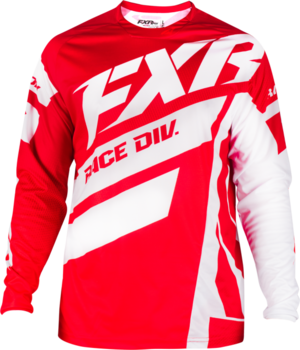CLUTCH PODIUM MX JERSEY,  Maroon/White